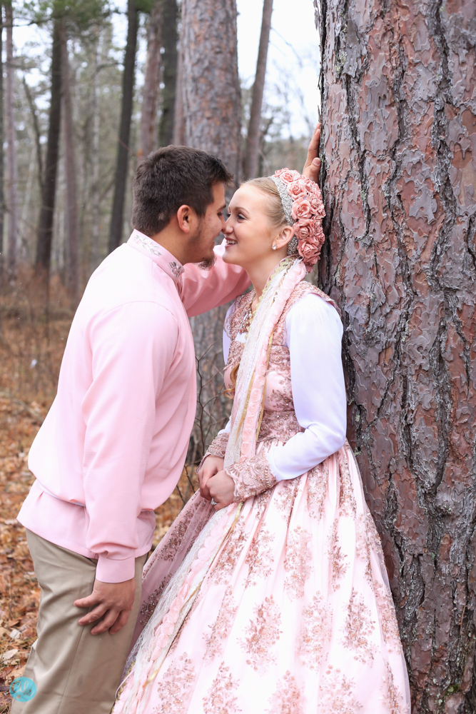 Blush Pink Wedding Gown Itasca State Park Wedding