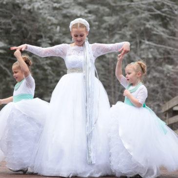 White Winter Wedding Gown   Itasca State Park Wedding Photos   Russian Orthodox Wedding Photographer