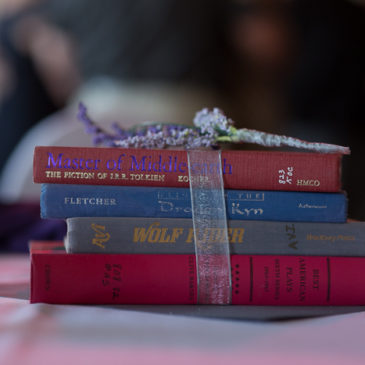 Books Books Books! Book Themed Wedding Decorations in Bemidji, MN. | Amy Kate Photography, Bemidji MN Wedding Photographer