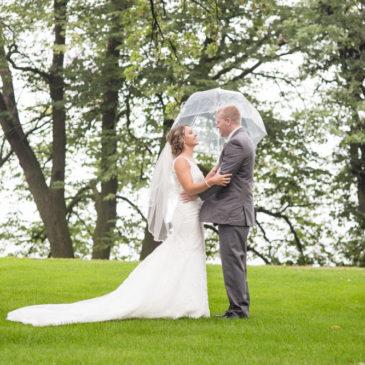Kristi + Colbey Wedding Sneak Peek | Bemidji Wedding Photography at Library Park and St. Philips Catholic Church
