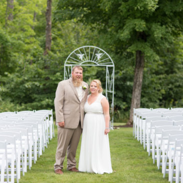 Beautiful Outdoor Wedding | Bride & Groom portrait, by Amy Kastenbauer (Amy Kate Photgraphy) in 2017