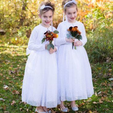 Flower Girls | Twins in the Vibrant Minnesota Fall Colors, Amy Kastenbauer Photographer, MN